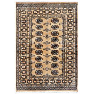 Pakistani Hand-knotted Bokhara Beige/ Ivory Wool Rug (4'3 x 5'10)