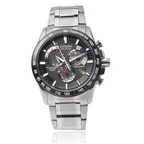 Citizen Men's CIT-AT4008-51E Stainless Steel Eco-Drive Chronograph Link Watch