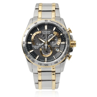 Citizen Men's Stainless Steel Two-tone Eco-Drive Chronograph Watch