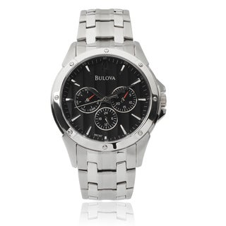 Bulova Men's BUL-96C107 Stainless Steel Chronograph Link Watch