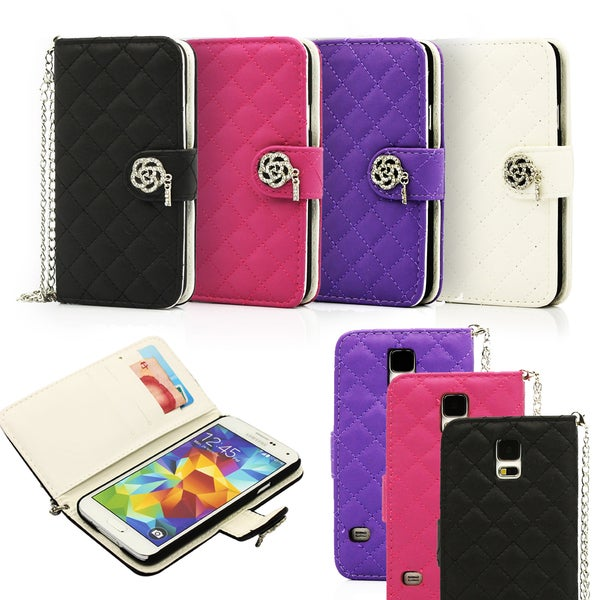 Gearonic PU Leather Flip Wallet Case Cover for Samsung Galaxy S5 ...