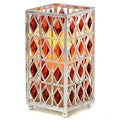 Red Jewel Hurricane with Flameless Candle