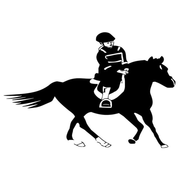 Man Riding Horse Decal Vinyl Wall Decal