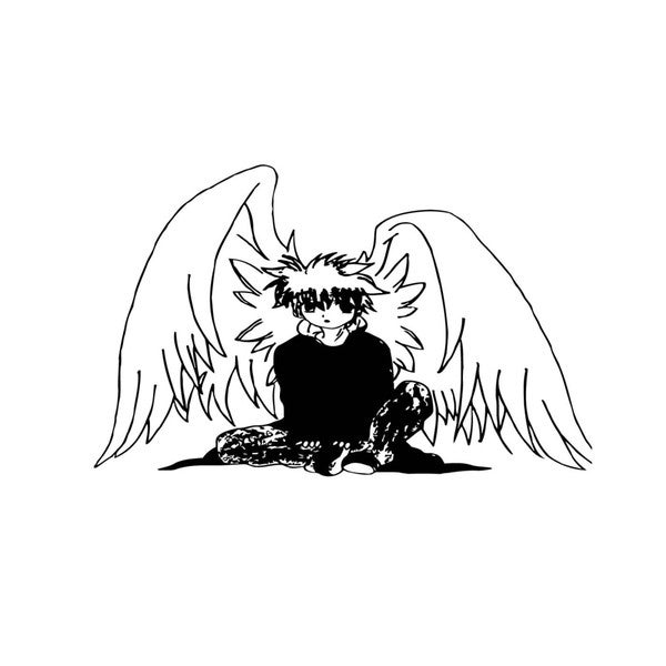Angel with Big Wings Vinyl Wall Decal