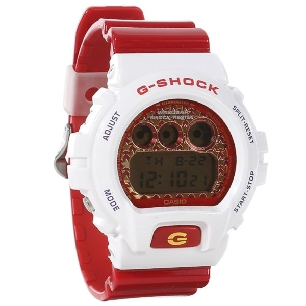 Casio G-Shock DW6900SC-7 White/ Red Watch