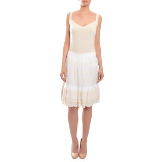 Tory Burch Women's 'Jasey' Crisp Ruffle Tiered Cotton Skirt