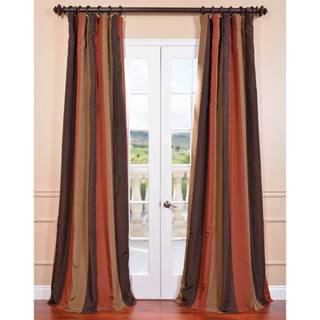 Ultra Lux Blackout Chocolate Sierra Taffeta Stripe Curtain Panel