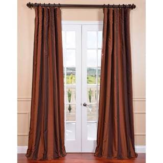 Ultra Lux Blackout Tuscan Copper Taffeta Stripe Curtain Panel