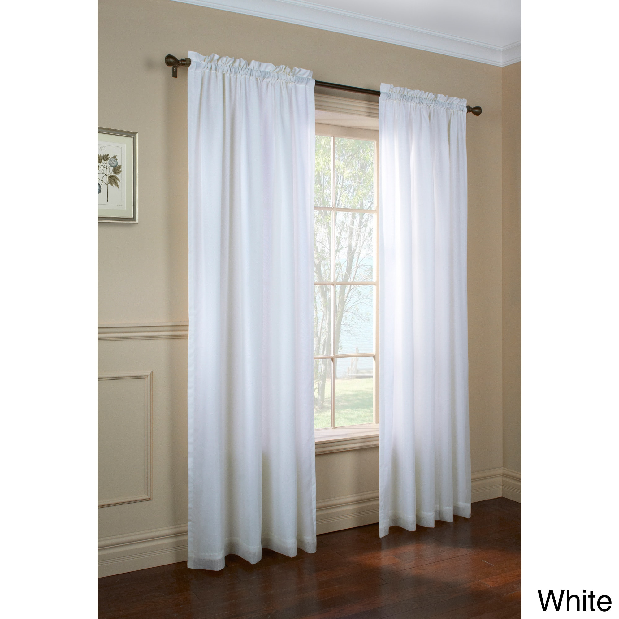 Rhaspody Lined European Voile Rod Pocket Top Curtain Panel