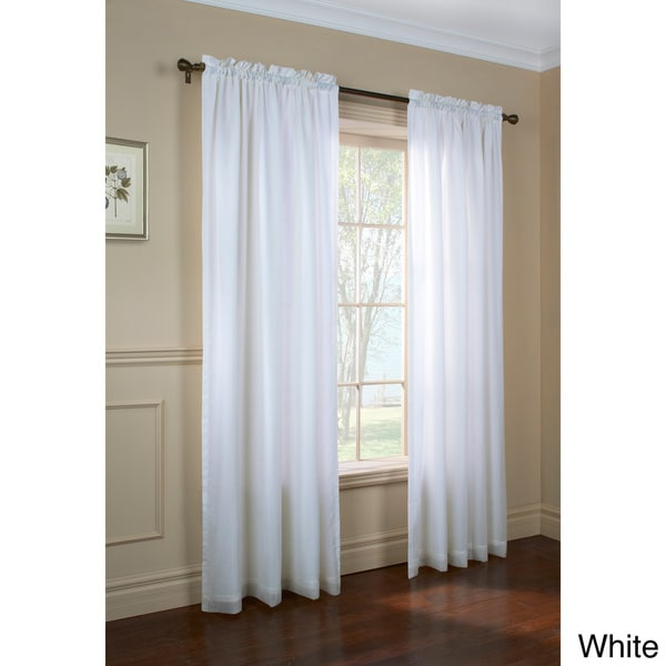 Rhaspody Lined European Voile Rod pocket Top Curtain Panel Pair