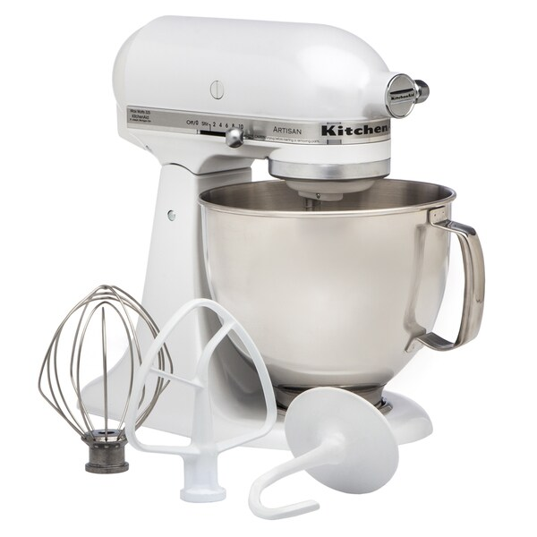 KitchenAid RRK150FP Frosted Pearl 5-quart Artisan Tilt-Head Stand Mixer (Refurbished)