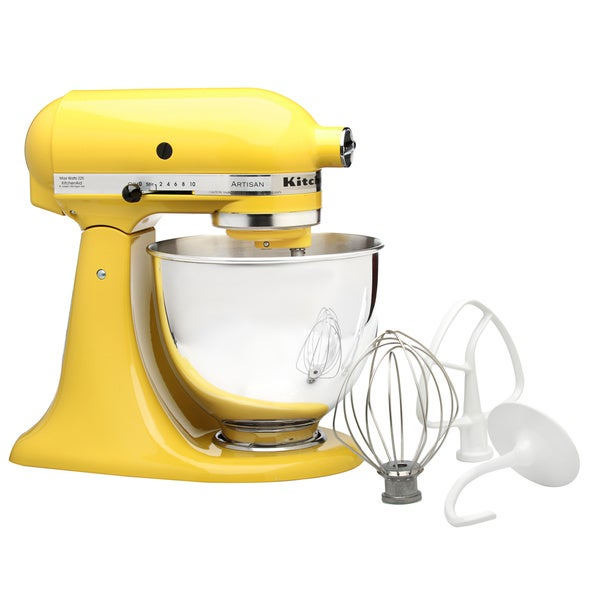 KitchenAid RRK150SY Sunshine Yellow 5-quart Artisan Tilt-head Stand Mixer (Refurbished)