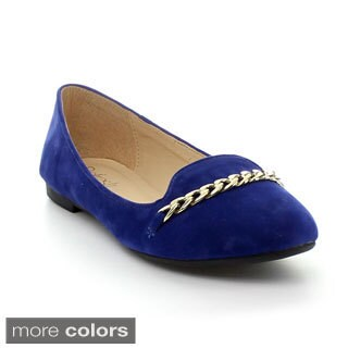 Refresh Women's 'Stacy-02' Chain Detail Loafer Flats