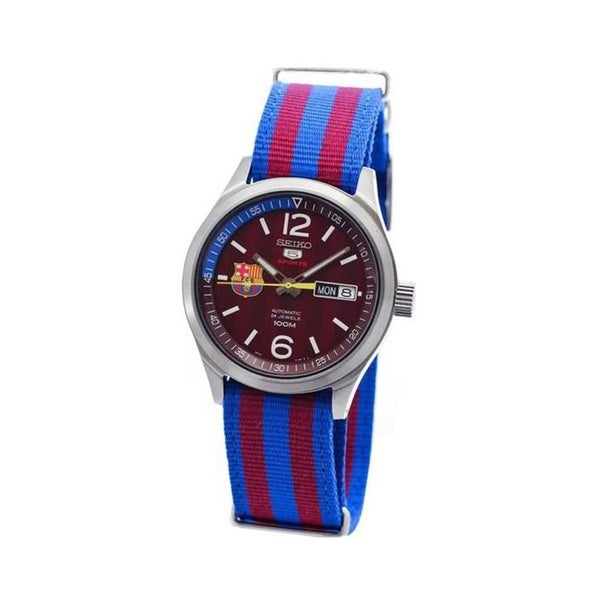 Seiko Men's SRP305J1 5 Sports FC Barcelona Nylon Watch