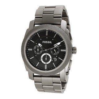 Fossil Men's TI1002 Machine Titanium Grey Watch