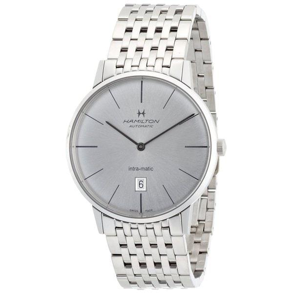 Hamilton Men's H38455151 Intra-Matic Silvertone Watch