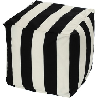 Striped Indoor/ Outdoor Beanbag Cube