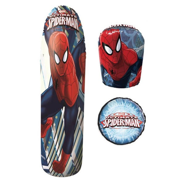 Spiderman 36-inch Bop Bag with Gloves