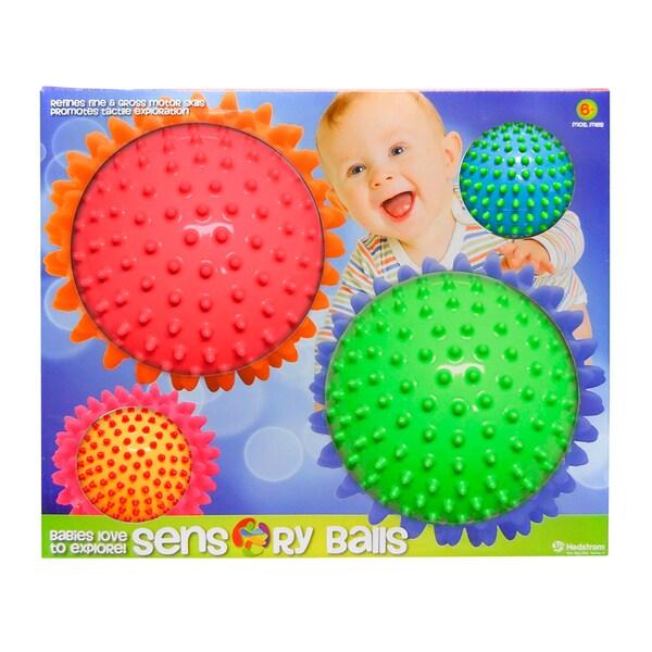 Style 2 Mini Sensory Multi Knobby Balls (Set of 4)