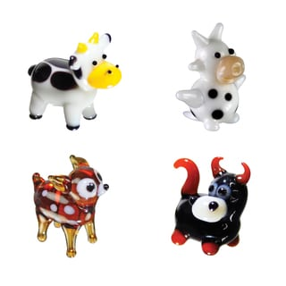 Looking Glass Cow-themed Miniature Figures