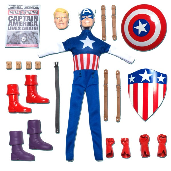 Round 2 Captain Action Captain America Deluxe Costume set 12900965