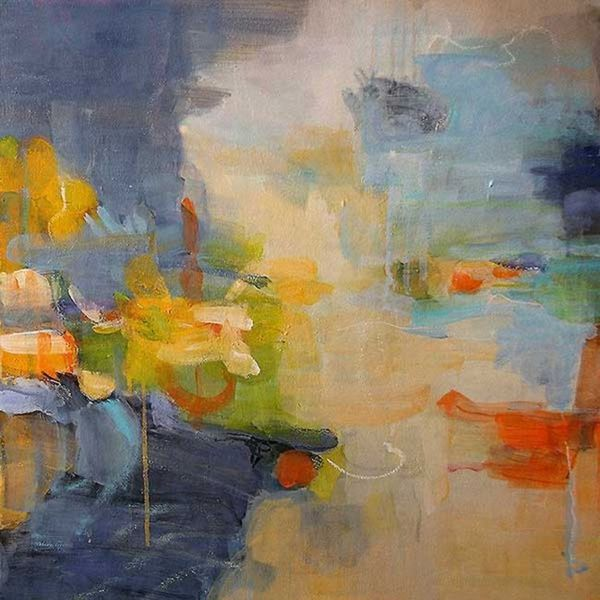 Lina Alattar 'Restless Mind' Canvas Art