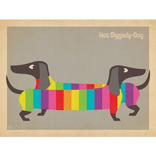 Anderson Design Group 'Mod Rainbow Dogs ' Canvas Art