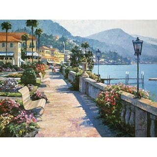 Howard Behrens 'Bellagio Promenade' Canvas Art