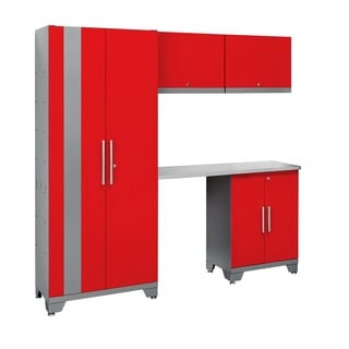 NewAge Products Performance Series Red 5-piece Metal Cabinet Set