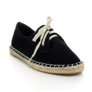 Refresh Women's 'Yappy-01' Espadrille Lace-up Canvas Flats