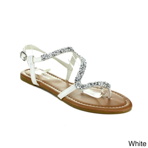 Top Moda Women's 'CN-2' Strappy Flat Sandals