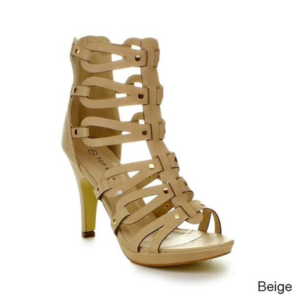 Top Moda Women's 'Spin-28' Gladiator High Heel Sandals