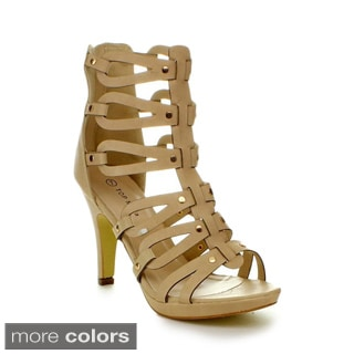 Top Moda Women's 'Spin-28' Gladiator High Heel Sandals