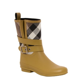 Burberry 3915083 Check Detail Belted Rain Boots