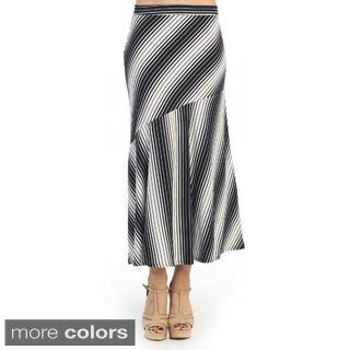 Hadari Women's Multi-striped Midi Skirt