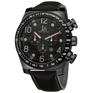 Joshua & Sons Men's Stainless Steel Chronograph Sport Black Watch