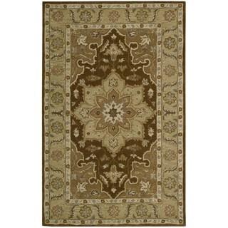 Nourison Hand-tufted India House Chocolate Wool Rug (3'6 x 5'6)