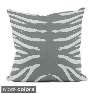 16 x 16-inch Striped Animal-print Decorative Throw Pillow