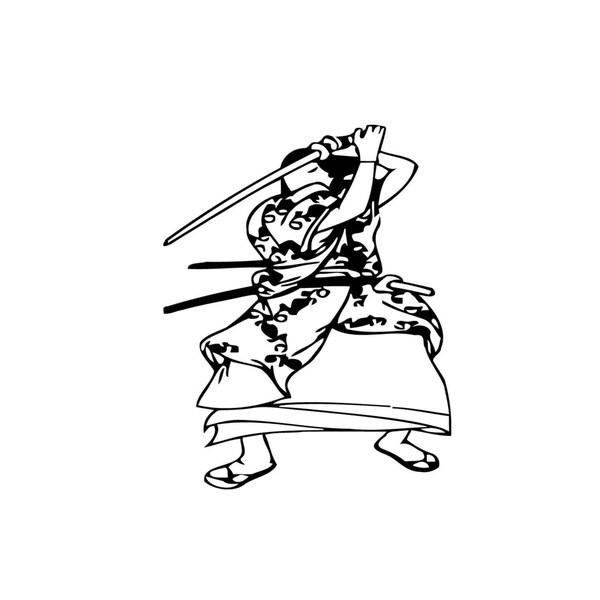 Japanese Warrior Vinyl Wall Art
