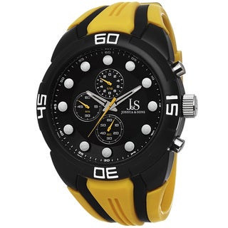 Joshua & Sons Men's Chronograph Sports Silicone Strap Watch