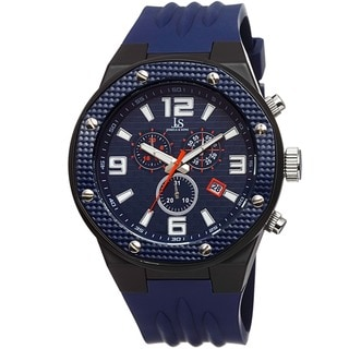 Joshua & Sons Bold Men's Chronograph Date Silicone Strap Watch