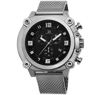 Joshua & Sons Men's Chronograph Stainless Steel Mesh Bracelet Watch