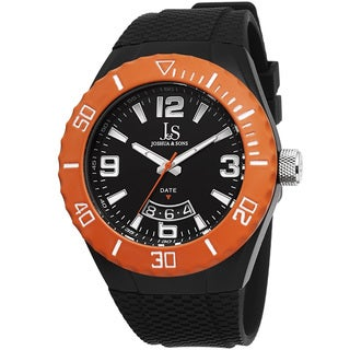 Joshua & Sons Men's Bold Swiss Quartz Date Silicone Strap Watch