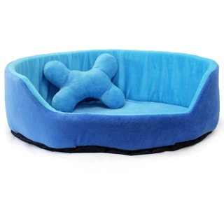 Milliard Indoor Heated Blue Pet Bed
