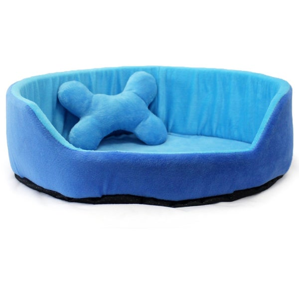 Milliard Indoor Heated Blue Pet Bed