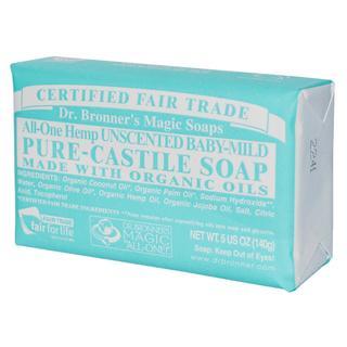 Dr. Bronner's Organic Castile Mild Bar Soap Baby (Pack of 2)