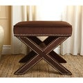Monica Pedersen 'Evelyn' Chocolate Ottoman Stool by Abbyson Living