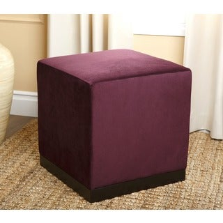 Monica Pedersen 'Sierra' Purple Square Ottoman by Abbyson Living