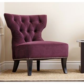 Monica Pedersen 'Nicole' Purple Side Chair by Abbyson Living