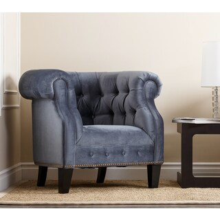 Monica Pedersen 'Clara' Blue Armchair by Abbyson Living